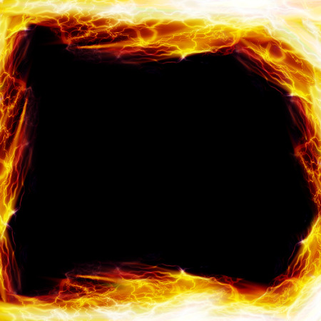 formed: Frame formed by hot flames