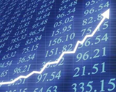 stock brokers: Electr�nica los n�meros de las existencias con el gr�fico
