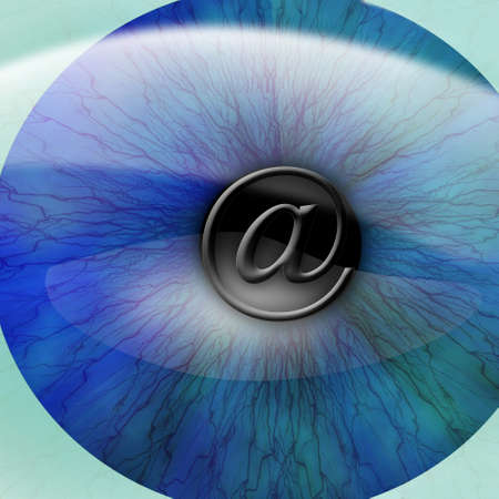 ad: Human pupil with email symbol