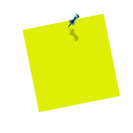 Yellow post it on white background Stock Photo - 1726520