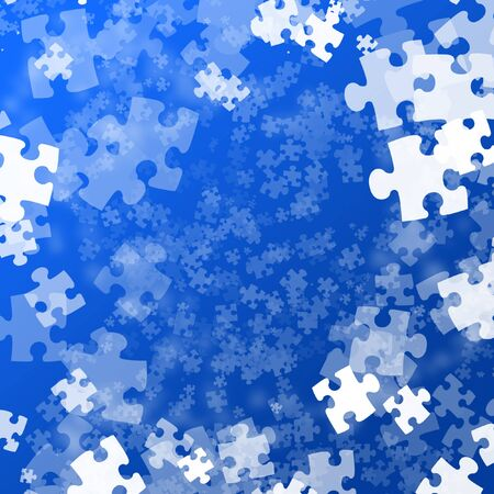Random jigsaw pieces Stock Photo - 1726934