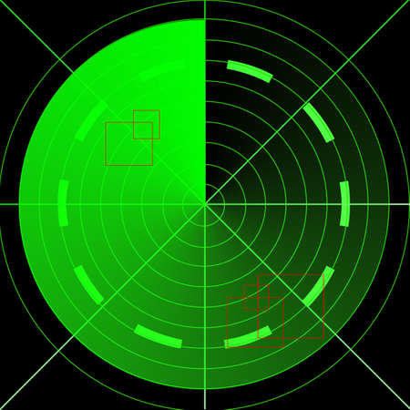 Green empty radar screen Stock Photo - 1726784
