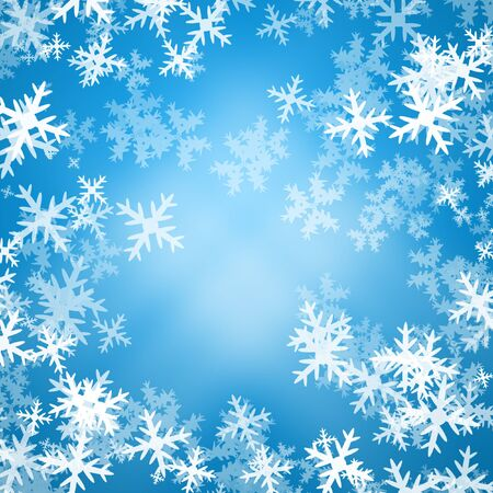 Snowflakes on blue background photo