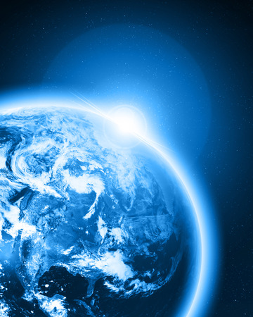 earthlike: Blue earth in outer space