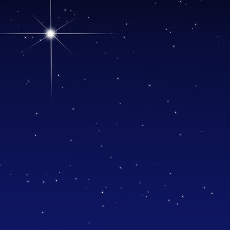 star of bethlehem: Peaceful sky filled with stars