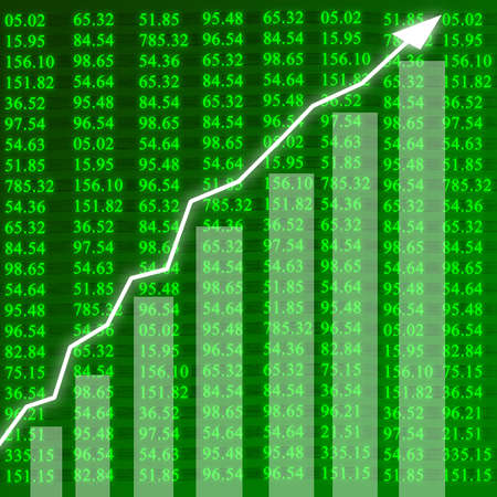 Electronic stock numbers showing growth Stock Photo - 1727105
