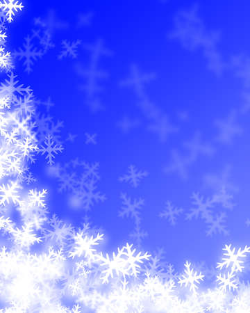 Snowflakes on light blue background Stock Photo - 1726847