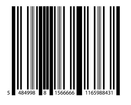 scanned: Standard barcode on solid white background Stock Photo