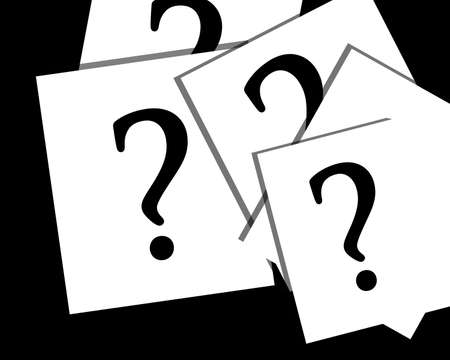 Question marks on white papers Stock Photo - 1979643