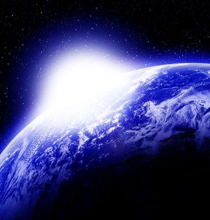 Sun rise on planet earth