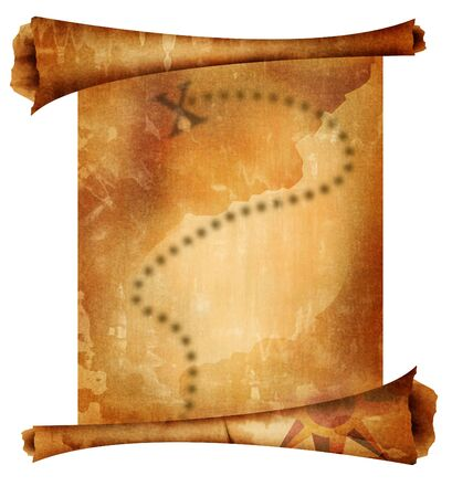 unknown age: Old treasure map Stock Photo