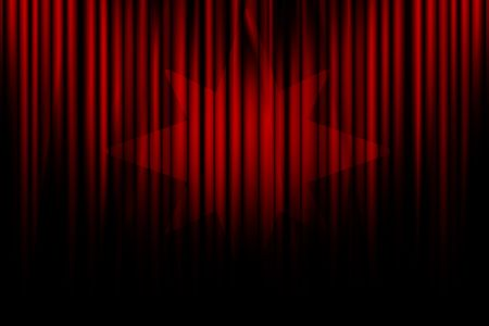 famous writer: Movie curtain