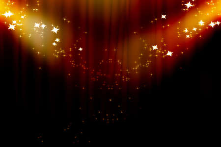famous actor: Curtain background with spotlights