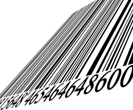 Barcode on solid white background photo