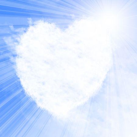 vapor trail: Heart shaped cloud formation