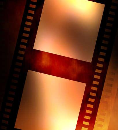 emulsion: Old negative coloured film strip