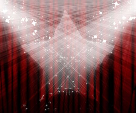 Movie or theatre curtain with added starlight