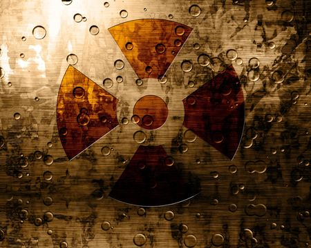 Worn nuclear sign Stock Photo - 2275242