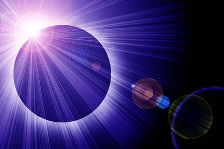 protuberances: Solar eclipse with room for copy Stock Photo