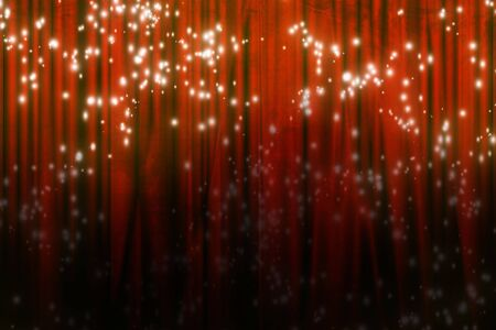 famous writer: Movie or theater curtain with glitters