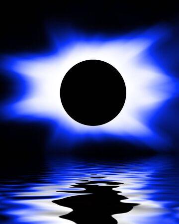 Blue eclipse photo