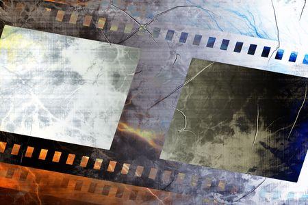 emulsion: Old negative film strip