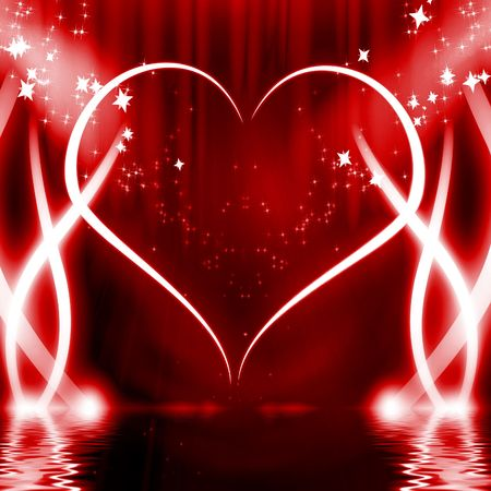 peacefull: Red heart in the spotlights