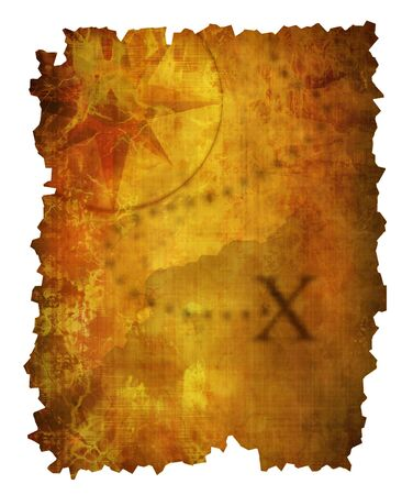 unknown age: Old paper treasure map Stock Photo