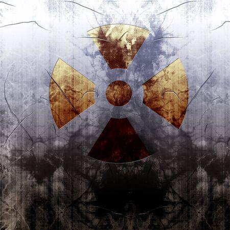 fallout: Radioactive sign Stock Photo