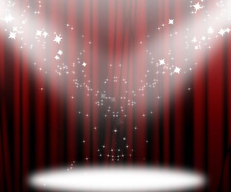 famous star: Movie or theatre curtain