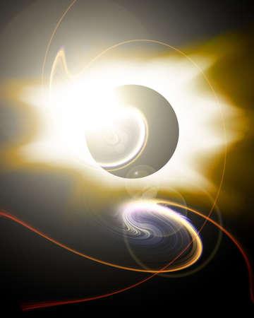 Golden eclipse photo
