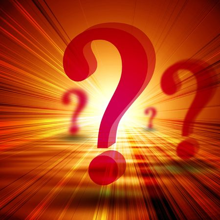 think tank: 3d question marks