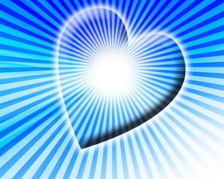 Blue heart Stock Photo