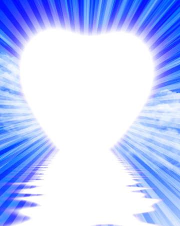 heartache: Heart shaped sunrise Stock Photo