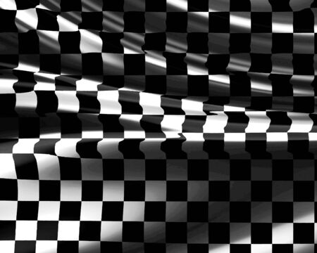 Checkered flag waving in the wind Stock Photo - 2702079