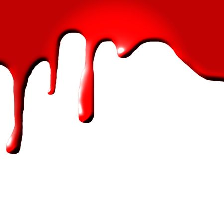 bloodied: Dripping blood on white background