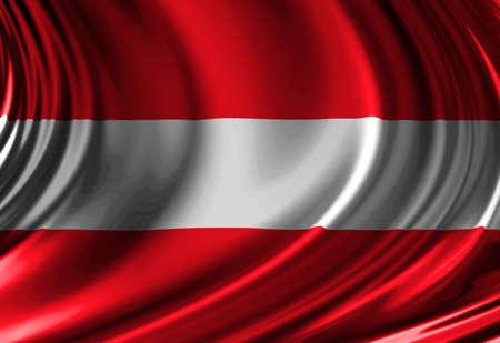 austrian: Austrian flag Stock Photo