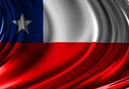 Bandera chilena Foto de archivo - 2792283