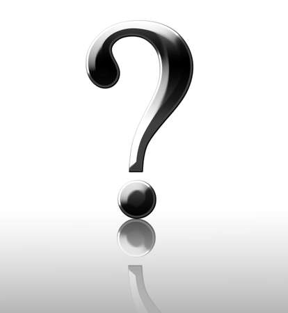 3d Question mark on white background Stock Photo - 2792191