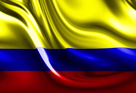columbian: columbian flag Stock Photo