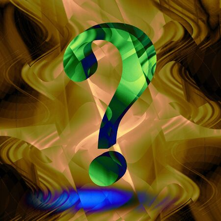 3d question mark on abstract background Stock Photo - 2792359