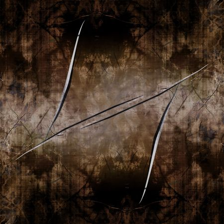 inox: Worn metal plate