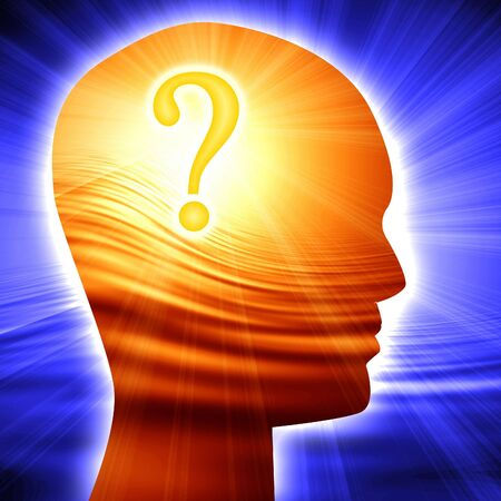 think tank: Question mark in human head