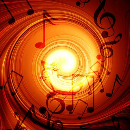 added: Swirling fire with added music notes