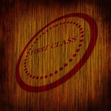first class: First class stamp Stock Photo