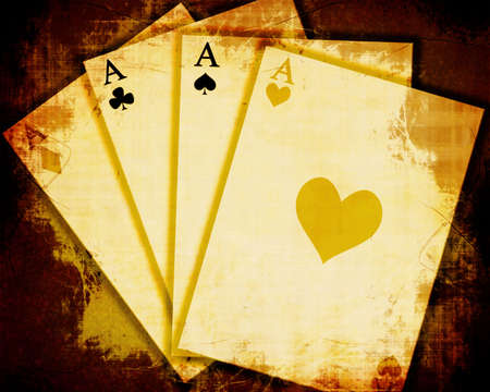 Vintage playing cards photo