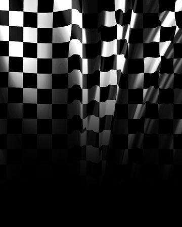 chequered: Checkered background fading into black Stock Photo