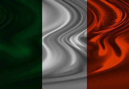 Irish flag waving in the wind Stock Photo - 2800025