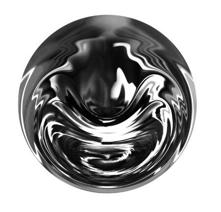 Liquid metallic drop isolated on a white background Stock Photo - 2843145