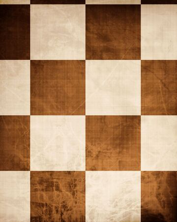 Old chessboard with some soft scratches photo